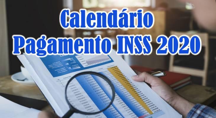 Tabela de pagamento INSS 2020